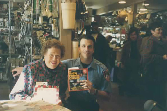 Joe with the legendary Julia Child at a book signing in Seattle, WA